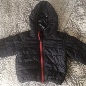 The north face reversible puffer jacket EUC